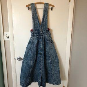 Dresses & Skirts - Vintage 80s Acid Washed Jumper Dress